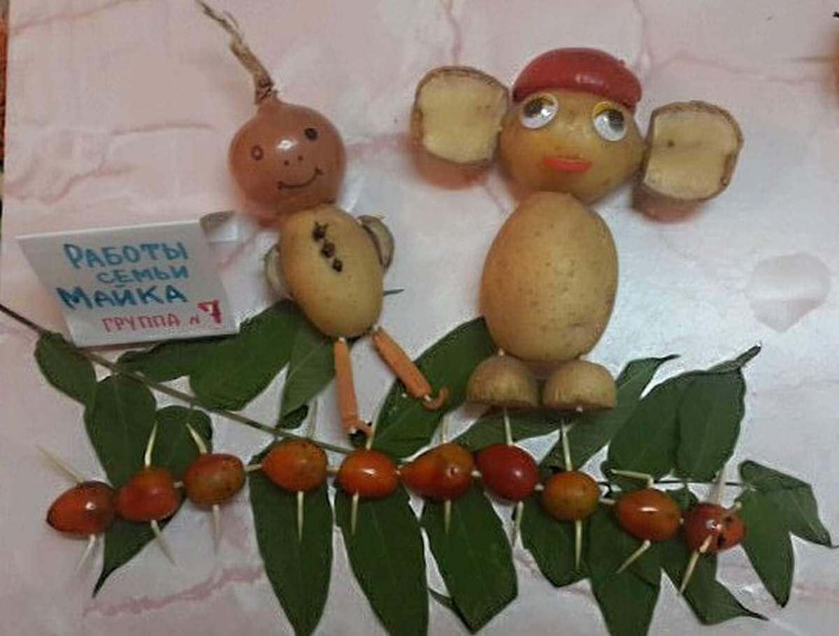 Поделки овощей и фруктов фото