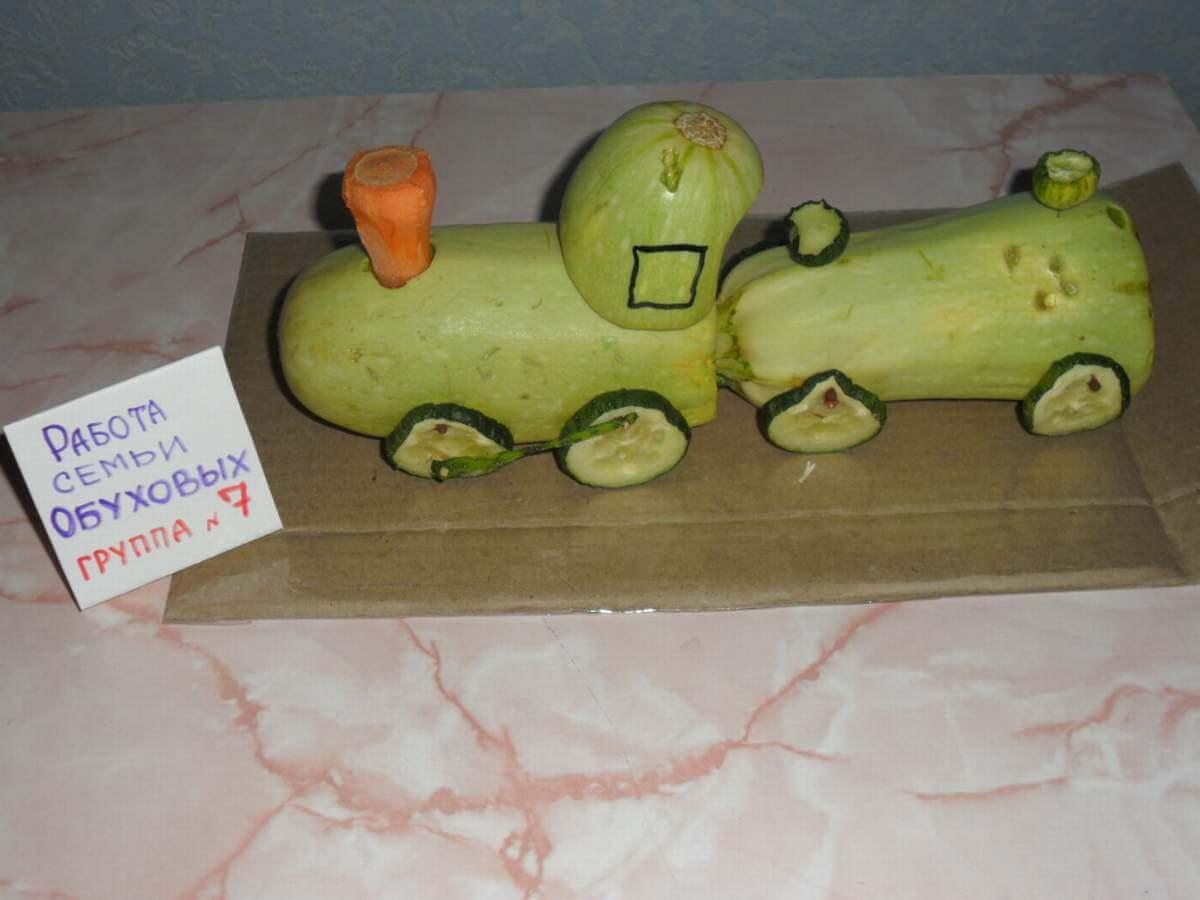 Сделать поделку своим руками из овощей и фруктов 324